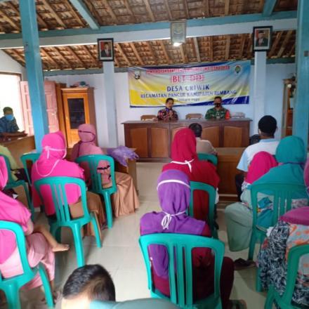 Penyerahan Bantuan Langsung Tunai Dana Desa ( BLT DD) Bulan Kelima Tahun 2020