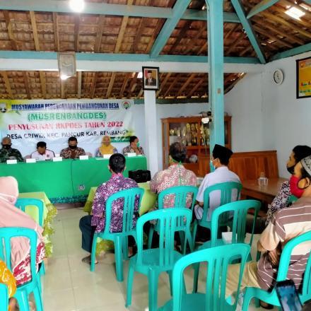 Musrenbangdes Penyusunan RKPDes tahun 2022