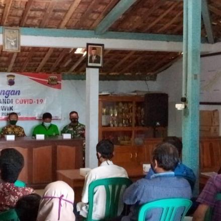 Pencanangan Kampung Siaga Candi dan PPKM Mikro desa Criwik 2021