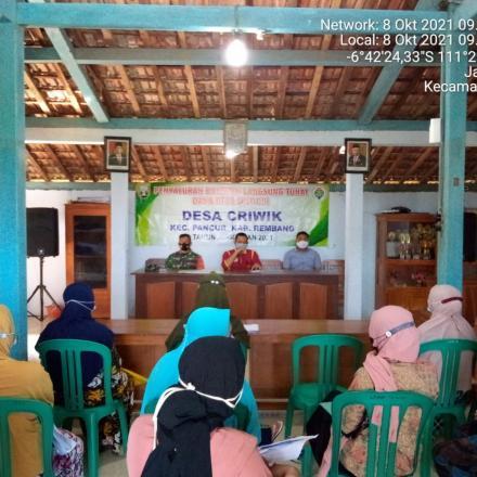 Penyaluran BLT DD Desa Criwik bulan ke 10 tahun 2021